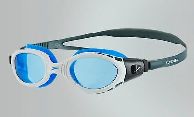 New Mens/womens Speedo Futura Biofuse Clear/blue Swimming Goggles Antifog