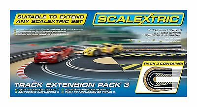Scalextric 2 x Hairpin Curves & 2 x Side Swipe Track Extension Pack 3 1/32 C8512