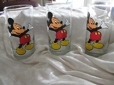 "Mickey Mouse Glasses ~  Set of 3 ~ 5.5"" Tall ~ $17.77"