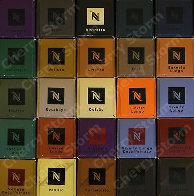NESPRESSO Capsules Pods GENUINE - CHOOSE MIX & MATCH 10 20 30 40 50 60 70 80 100