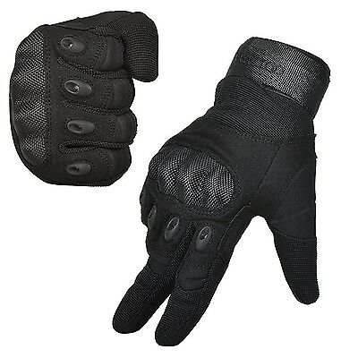 Freetoo Men's Outdoor Gloves Full Finger Cycling Motorcycle Gloves L Black