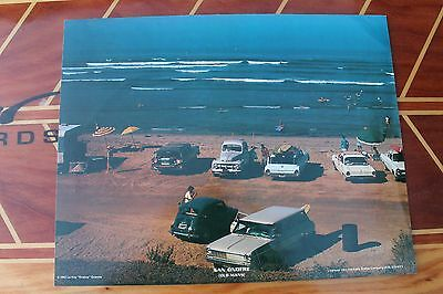 Vintage SAN ONOFRE LeRoy Grannis 1960's Surfing Woody Wagon 11x14in. Poster