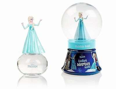 Disney Frozen Eau de toilette + Bubblebath snowglobe NEW