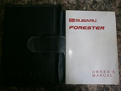 SUBARU FORESTER HANDBOOK MANUAL + WALLET 1997 - pre f/lift 2001 (see 9 photos)