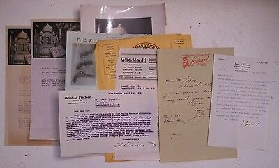 FILE OF SIGNED LETTERS FROM VARIOUS MAGICIANS to JOHN D. LIPPY & 1 Photo c. 1929