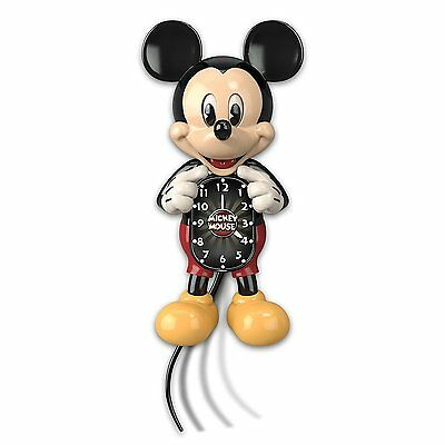 Bradford Exchange - Disney Mickey Mouse Wall Clock with Moving Eyes and Tail