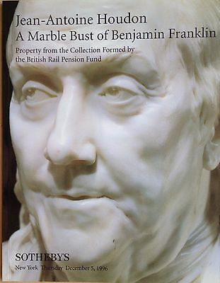 Jean Antoine Houdon A Marble Bust of Benjamin Franklin Sotheby's Catalog NY 1996