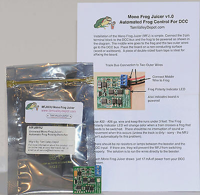 Automated Frog Control for DCC, MFJ003U by Tamvalley Depot
