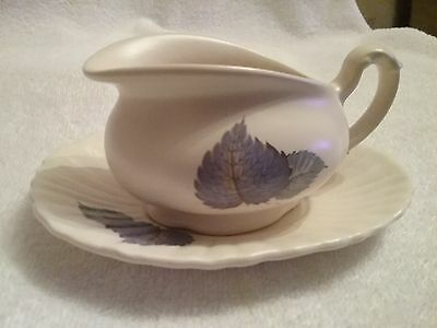 Very Pretty Axe Vale Sauce Boat Blue Leaves