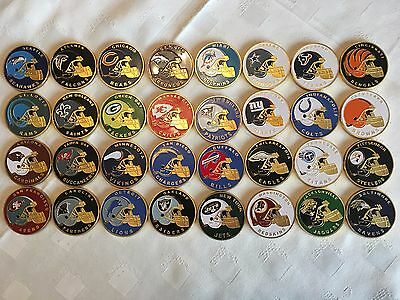 32 X Nfl American Football Collectable Challenge Coins New