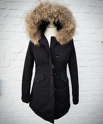 new products 8229a 5df81 DAMEN WINTER ARCTIC Mantel Parka Jacke mit Echtfell Pelz Fell schwarz