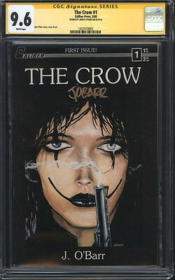 THE CROW #1 CGC 9.6 SS / Caliber Press 1989 / Signed by James O' Barr! 1st Print