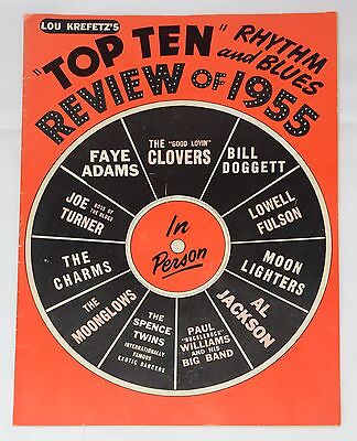 Autographed R&B Program 1955 Top Ten Rhythm & Blues Stars RARE