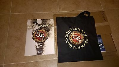 Whitesnake Rare 2016 Tour Book Program VIP David Coverdale Tommy Aldridge New