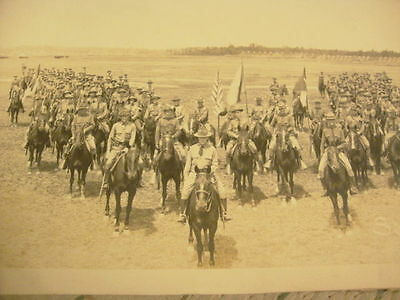 "Authentic 57"" Photo Multi Troops 2nd U.S. Cavalry Horses Swords Rifles Uniforms!"