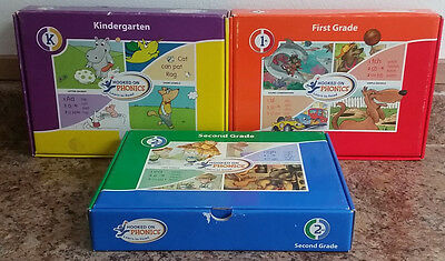Hooked On Phonics Learn to Read Kindergaden 1st And 2nd Grade Set InComplete CD