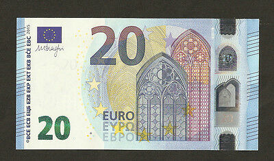 Germany €20 Euro Mario Draghi's Signed Lovely Ending Serial Number 777 # UNC