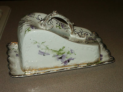 RARE Vintage Covered Cheese Butter Dish WARWICK China BEAUTIFUL