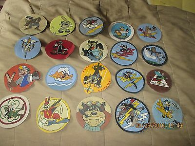 Wwii Disney Cartoon Dealers Collector 100+ Patch Collection Rko Studios Patches