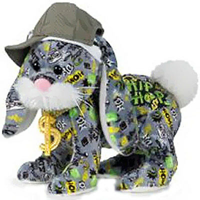 Ganz Webkinz Rockerz Rockers Hip Hop Bunny HM5107 w/ sealed, unused code. NWT