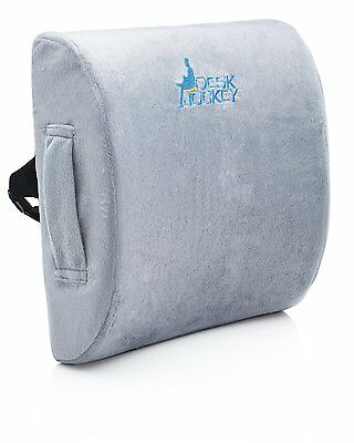 Premium Therapeutic Grade Lumbar Support Cushion with Pain by Desk Jockey CXX