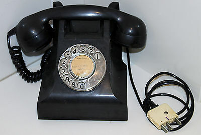 Vintage Retro Pmg 400 Series Black Bakelite Phone Great Cond Fully Operational