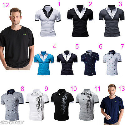 CLEARANCE SALE Men's Casual Slim Fit T-shirt Short Sleeve Tee Tops Shirts NEW