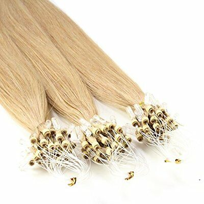 Just Beautiful Hair 100 Micro Loop Extensions con Anelli, Capelli Veri Remy