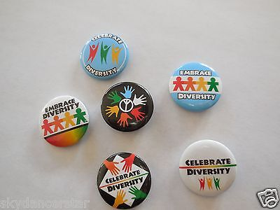 Embrace Celebrate Diversity Button Pin Donate To Vet Feed Feral Cats Rescue