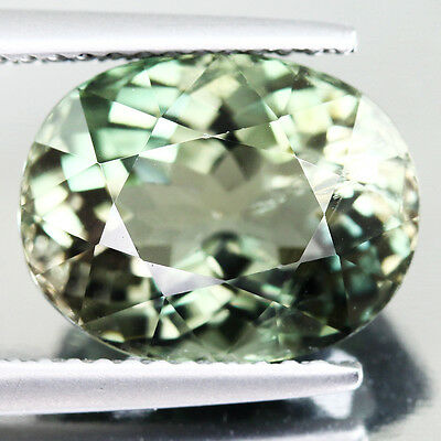 5.62ct. Ravishing Light Green Natural Tourmaline Oval Facet