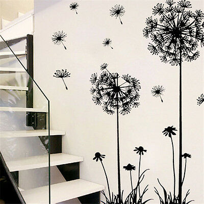 Dandelion Wall Sticker DIY Decal Home Room Decor Removable Art Vinyl Flower