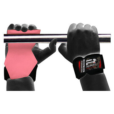 ROOMAIF Powergrips Zughilfe Fitness Training Griffpolster 1 Paar Gym DE