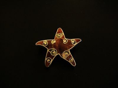 Silver SeaStar Pendant, Handcrafted in Peru wiith the finest 950 silver.