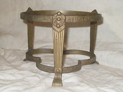 """ornate claw foot floral flower decor stand metal base 6"""" top rim diameter"""