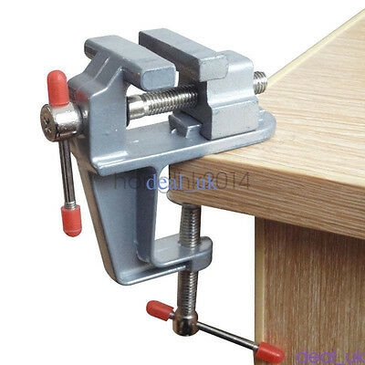 """Table Bench Vise 3.5"""" Work Bench Clamp Swivel Vice Hobby Craft Repair Tool"""