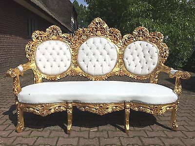 Antique Beautiful Rococo 3-Seater/sofa/settee/couch