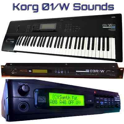 Korg 01/W O1/W 03R/W 05R/W - Largest Sound Collection
