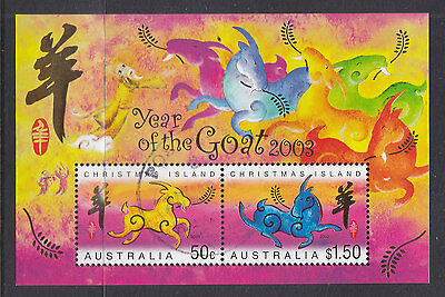Christmas Isl 2003 Year Of The Goat  Asc:ms470 Superb Cto..