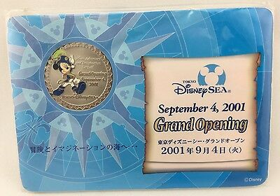 2001 Tokyo Disney Sea Grand Opening Admiral Mickey Mouse Cast Member Coin