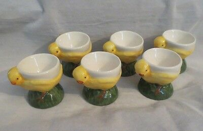Egg Cups Yellow Chicks Made In Portgual - Set Of 6