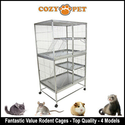 Cozy Pet Rodent Cage for Rat, Ferret, Chinchilla, Degu or other Small Pets GC01