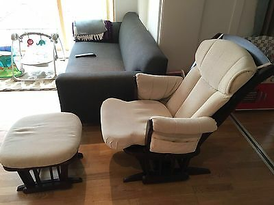Dutailier Rocking Nursing Chair With Footstool