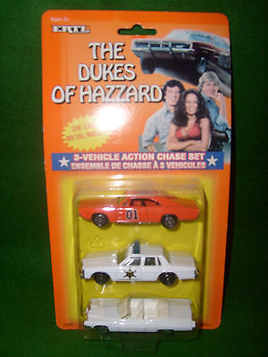 1997 Ertl The Dukes of Hazzard 3-Vehicle Action Chase Set, NIP, Super Hot!