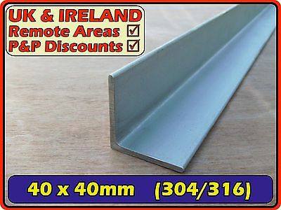 Stainless Steel Angle (L section,iron,bracket)| 40x40mm 3mm 40mm |304 316 Marine