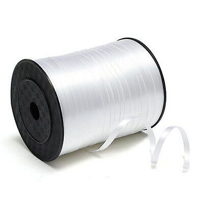 5mm Roll Curling Balloon Ribbon 500yd White AD