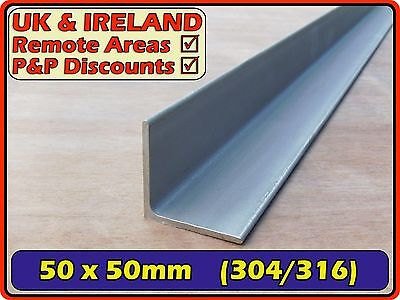 Stainless Steel Angle (L section,iron,bracket)| 50x50mm 3mm 5mm | 304 316 Marine