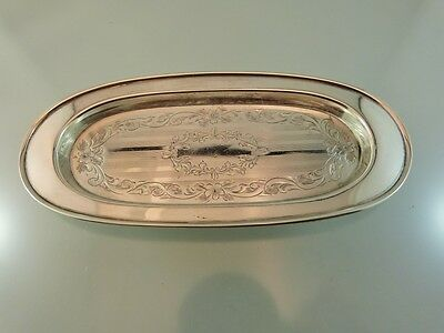 """Art Deco Rolled Rim Oval Pin Tray 5.5"""" Sterling 1/248/ By Birks"""