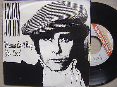 ELTON JOHN mama can´t buy you love / three way SPANISH 45 unique p/s ROCKET 1979