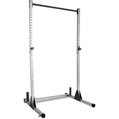 Power Rack Weights Squats Dead Lifts Fitness Exercise Strength Curl Bar Home Gym
