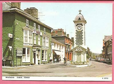 Rhayader Clock Tower, Wales postcard. Judges.